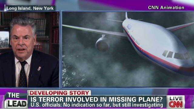 exp Lead intv Peter King malaysia airlines missing flight terrorism scare_00005104.jpg