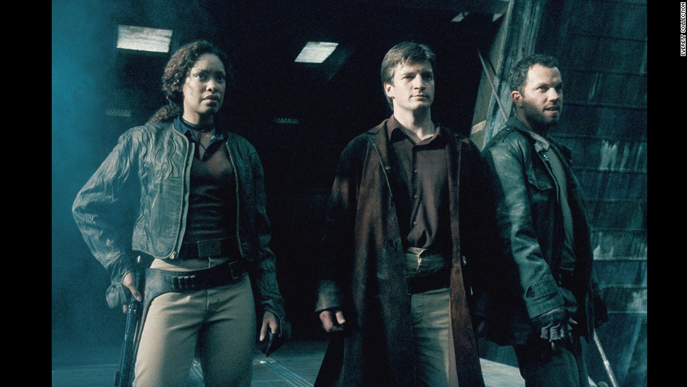 "Joss Whedon's ""Firefly"" went off the air years ago, but it remains a cult favorite -- in part because of a multiracial cast that also featured women in kick-butt roles. Here, Gina Torres, Nathan Fillion and Adam Baldwin get ready to do battle.<br />"