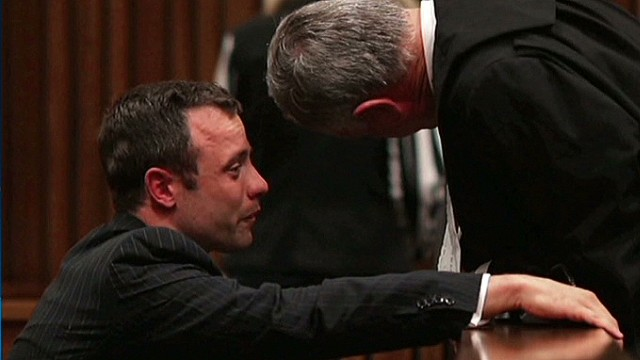 Oscar Pistorius vomits and cries in court