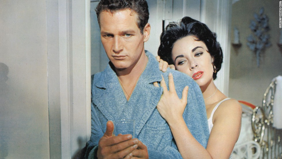 "Paul Newman and Elizabeth Taylor starred in ""Cat on a Hot Tin Roof"" in 1958."