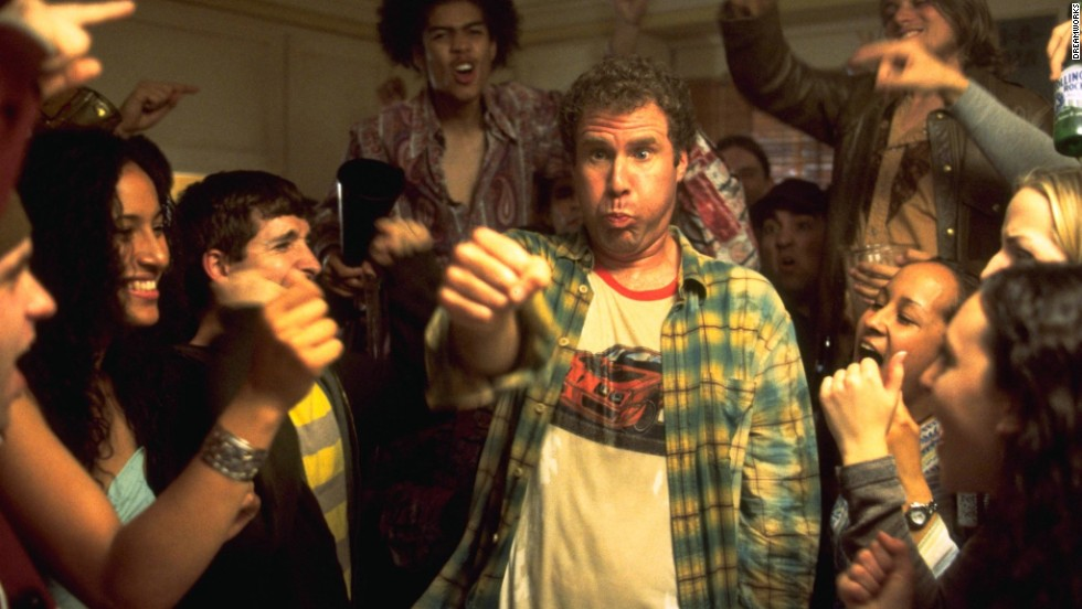 "Will Ferrell gets his drink on in ""Old School"" in 2003. It's one of many films with Ferrell in a state of undress."