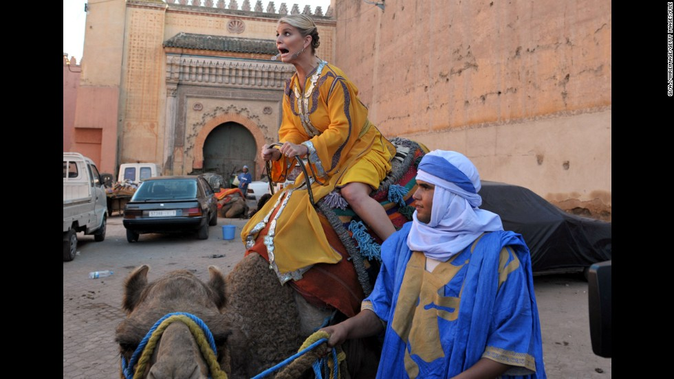 "In 2010, VH1 aired a documentary reality series called ""The Price of Beauty"" starring Simpson and two friends as they traveled the world seeking the true meaning of beauty in different cultures. Here she is in Morocco."