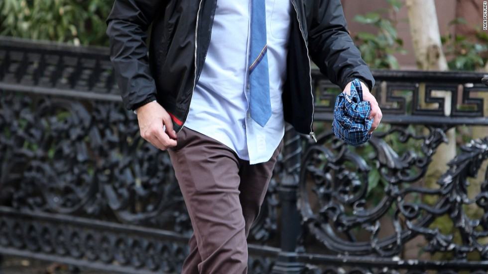 Jimmy Fallon rushes out of his apartment in New York City on March 11.
