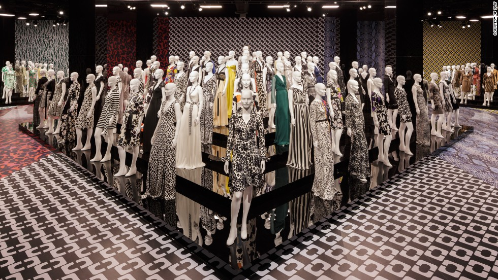"The ""Journey of a Dress"" exhibition is on display in the Wilshire May Company Building in Los Angeles. This year marks  the 40th anniversary of the design."