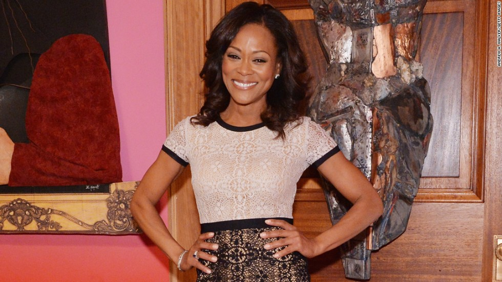 Robin Givens is smiling pretty as she exits her 40s.