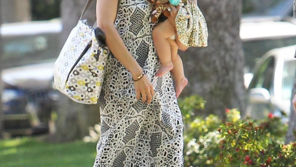 Jenna Dewan-Tatum takes daughter Everly to a baby class on March 12.