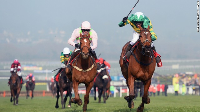 More Of That (right) ridden by Barry Geraghty won the World Hurdle at Cheltenham racecourse on Thursday.