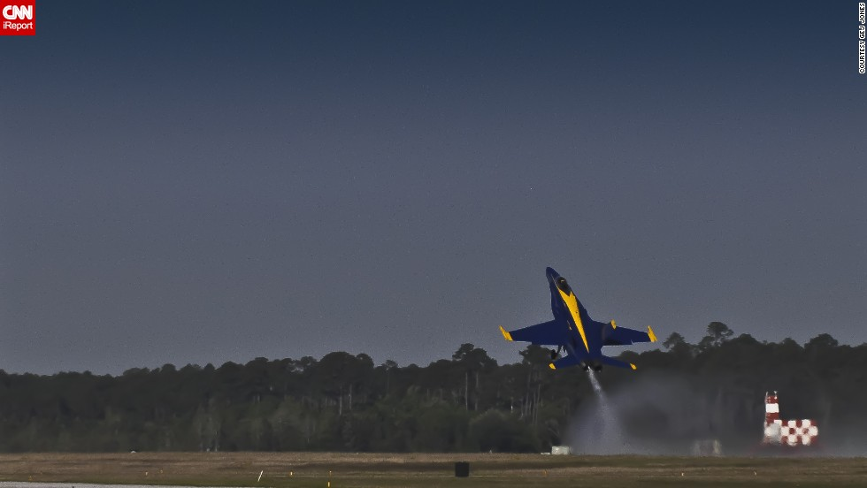 "Retired teacher <a href=""http://ireport.cnn.com/docs/DOC-948706"">Gej Jones</a> has seen the Blue Angels fly several times."
