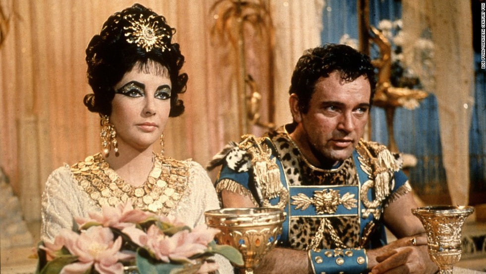 "Elizabeth Taylor played the Queen of the Nile in the 1963 film ""Cleopatra,"" which co-starred her real-life love Richard Burton. There was backlash in 2010 when it was announced that <a href=""http://marquee.blogs.cnn.com/2010/06/17/backlash-over-angelina-jolie-as-cleopatra/"">Angelina Jolie had been cast in a planned film based on the book ""Cleopatra: A Life."" </a>"