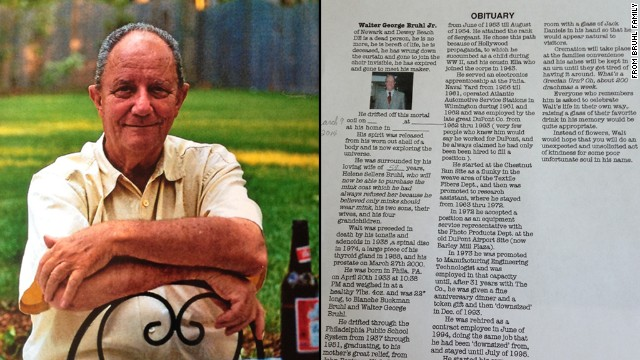 Man gets last laugh in self-written obit