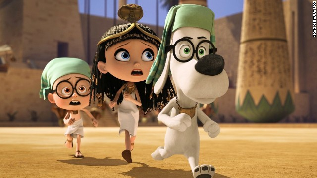 """Mr. Peabody & Sherman"" features Ty Burrell as the voice of ""the world's smartest animated dog."""