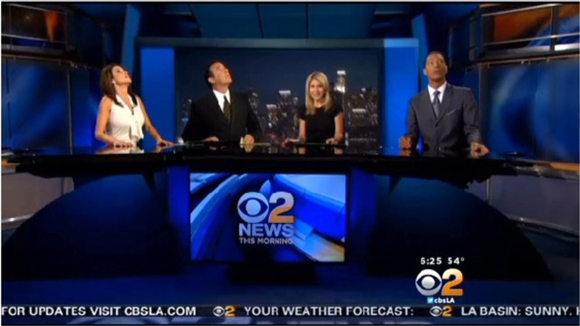 Anchors react to L.A. quake on live TV
