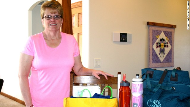 Connie Sievers packs a gym bag, healthy snacks and water the night before so early-morning rises will be painless as possible.