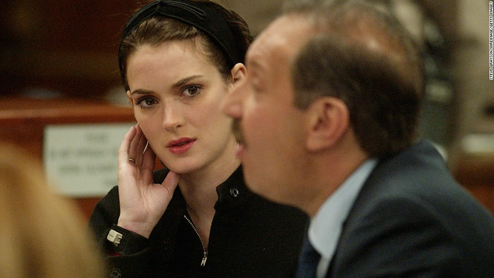 "In December 2002, actress and fashion darling<a href=""http://archives.cnn.com/2002/LAW/12/06/ryder.sentencing/""> Winona Ryder was sentenced</a> to three years probation and 480 hours of community service for shoplifting from Saks Fifth Avenue. She was also ordered to pay more than $10,000 in fines and get drug and psychological counseling."