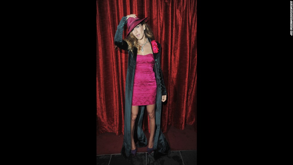 "Actress Sarah Jessica Parker wears a L'Wren Scott dress in December 2009 as she attends the after-party for the London premiere of ""Did You Hear About the Morgans?"""