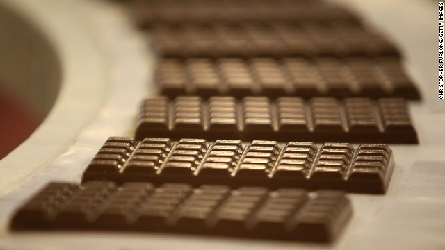 Best: Chocolate  BIRMINGHAM, ENGLAND - DECEMBER 15:  Cadbury's Dairy Milk Chocolate bars move down the production line at the Cadbury's Bournville production plant on December 15, 2009 in Birmingham, England. T