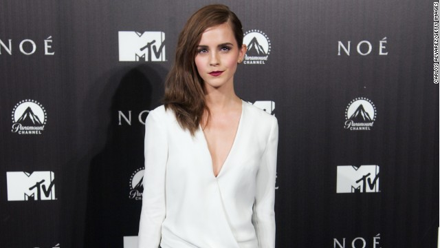 "Emma Watson cuts a striking figure at the ""Noah"" Madrid premiere on March18."