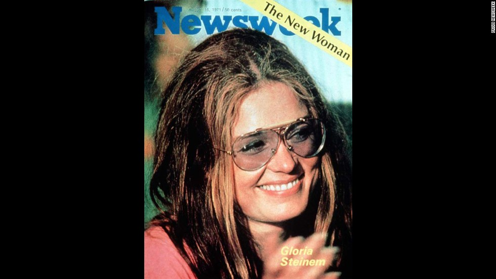 "Steinem is featured as ""The New Woman"" on the cover of Newsweek in 1971. She was increasingly seen as the spokeswoman of the women's movement, although the headline to the story inside -- "" A Liberated Woman Despite Beauty, Chic and Success"" -- showed there was still a long way to go."