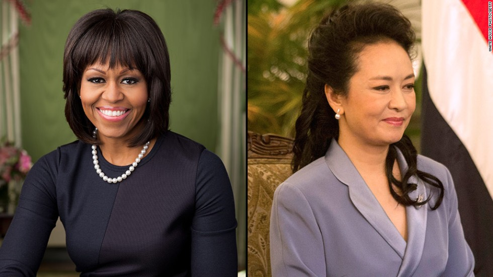 Both ladies have been admired for their sense of personal style. Peng has been named one of Vanity Fair's best dressed in its international poll in 2013. Obama has several style blogs that breathlessly follow her sartorial choices.