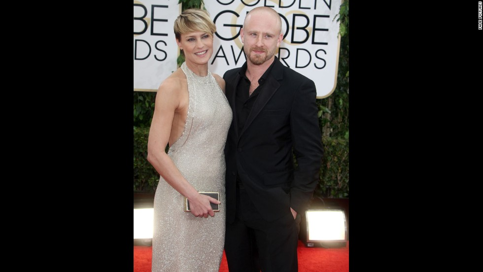 "Robin Wright, 47, has found love with 33-year-old actor Ben Foster, and she knows their age difference has raised eyebrows. ""If it was the inverse -- a younger woman with an older man -- not many would bat an eye,"" <a href=""http://www.harpersbazaar.com/celebrity/news/rita-wilson-interviews-robin-wright-0414"" target=""_blank"">she tells Harper's Bazaar in its April issue</a>. ""But an older woman with a younger man -- it's almost judged the way different religions judge doctrines of other religions."" Wright, who announced the couple's engagement in January, is just one star who's open-minded about an age gap."