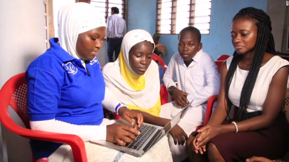 """These are very intelligent girls but they haven't been given the platform to shine because nobody believes in them,"" she says. ""So when we started teaching them HTML we saw the girls speaking up -- we were amazed; they were actually able to design websites and stand up and speak about their code."""