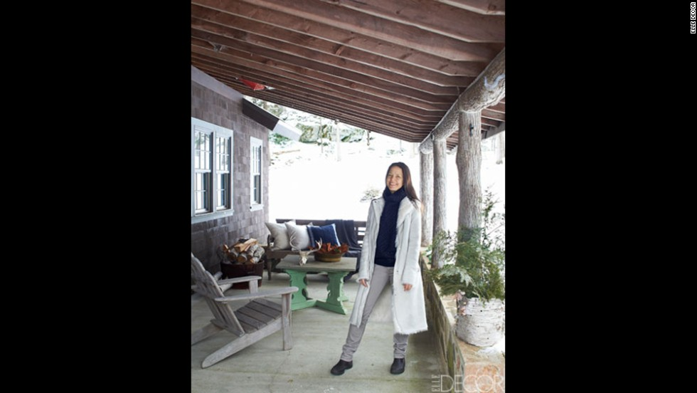 Amy Mellen, creative director for Calvin Klein Home, at her house in New York's Dutchess County.