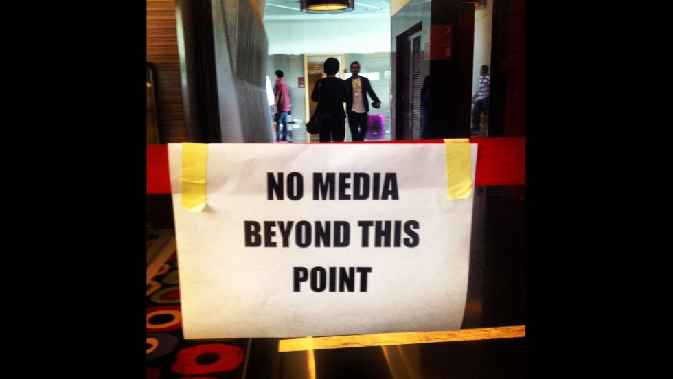 "The media is kept out to respect the privacy of families of passengers and crew on MH370. By CNN's Mark Phillips, Kuala Lumpur, March 16.  Follow Mark on Instagram at <a href=""http://instagram.com/markpcnn"" target=""_blank"">instagram.com/markpcnn</a>."