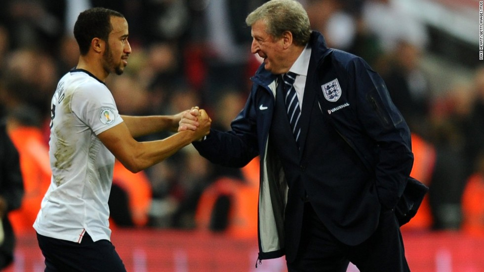 "English football has spent decades battling the scourge of racism. England manager Roy Hodgson (right) apologized after referring to Andros Townsend (left) as ""the monkey"" while telling an old NASA joke during a halftime team talk last year. In defense of his manager, Townsend tweeted: ""I don't know what all this fuss is about....No offense was meant and none was taken! It's not even news worthy."""