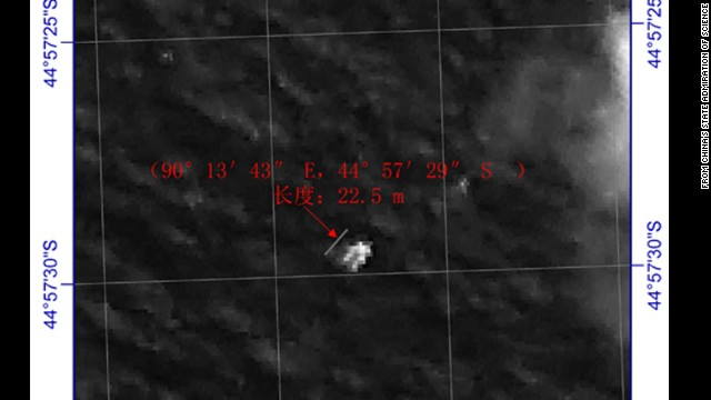 Chinese satellite spots floating object