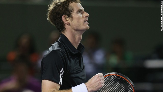 Andy Murray needed three sets to overcome Australia's Matthew Ebden at the MIami Masters in Florida.