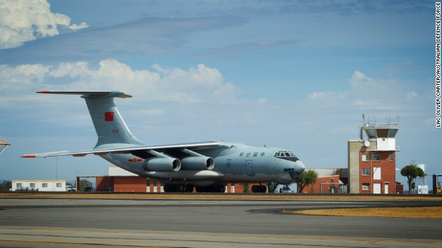 "Crew on one of the II-76 aircraft spotted ""suspicious objects"" in the Indian Ocean."