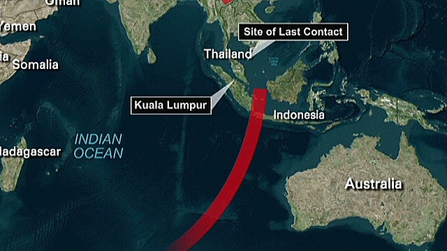 Source: Flight 370 turned, dropped