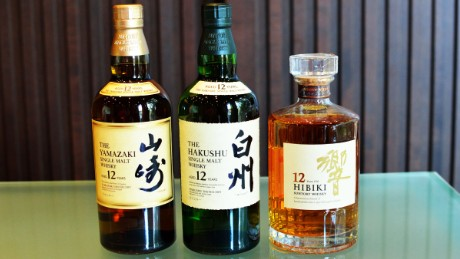 Suntory's whiskey products.