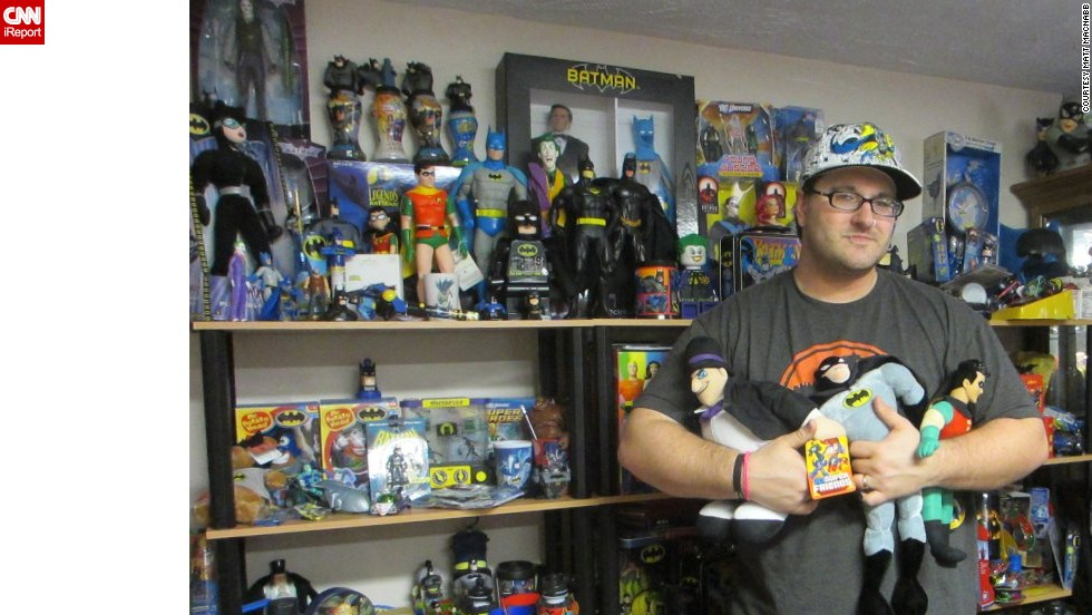 "<a href=""http://ireport.cnn.com/docs/DOC-1111493"">Matt MacNabb</a> of Omaha, Nebraska, runs the fan site <a href=""http://www.legionsofgotham.org"" target=""_blank"">legionsofgotham.org</a>. He is one of many Batman fans who collect all the Batman memorabilia they can get their hands on. With the popular comic book character's 75th birthday on Sunday, click through to take a look at some of these Bat-fans and their collections:"