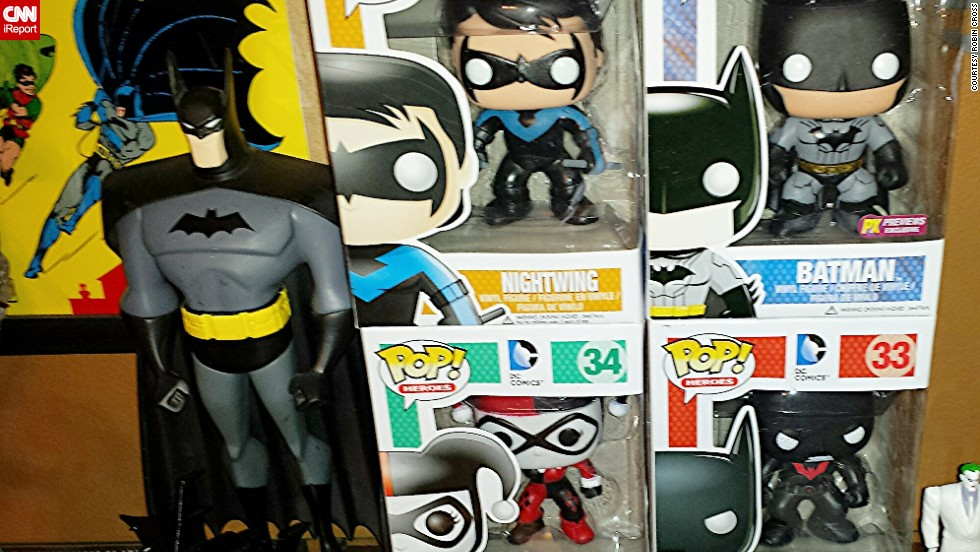 Seventy-five years later, the Batman franchise is still going strong. Vinyl figures of Batman characters (right) have grown in popularity in recent years.