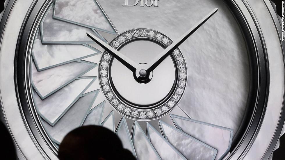 At the Dior booth haute couture meets horlogerie, with diamond bedazzled timepieces doubling up as envy-inducing jewelry.