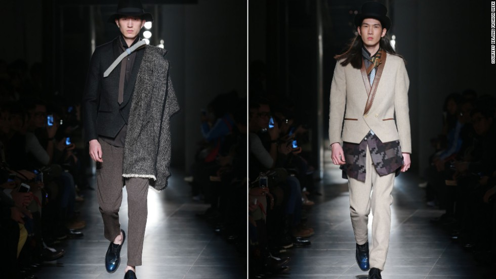 Guangzhou's menswear giant Cabbeen brought a touch of quirk to their new collection. Asymmetry, layering, lots of hats -- and a fancy new way to knot skinny ties -- bring street flavor to the brand.
