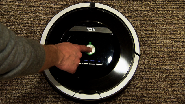 Vacuum cleaning robot saves the day