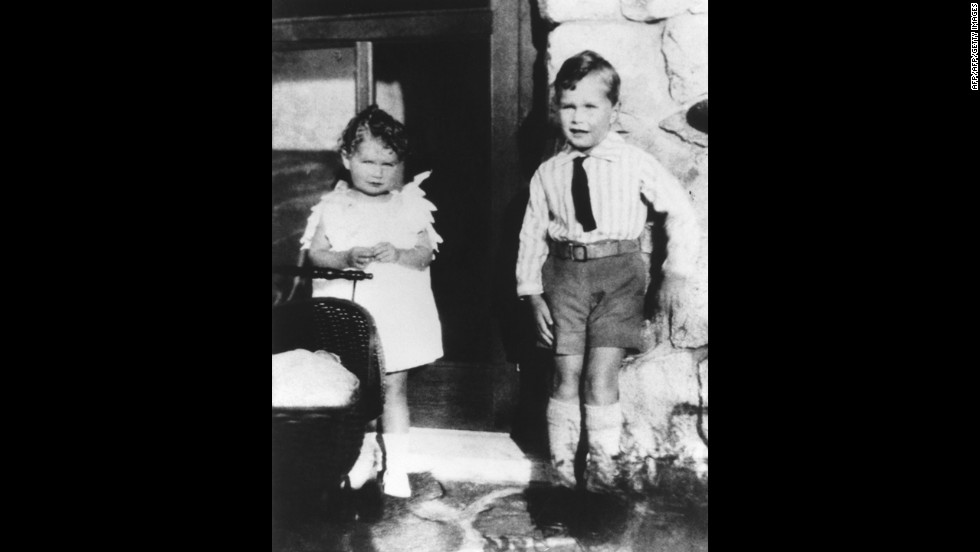Bush is pictured with his sister, Mercy, in 1929. He was born June 12, 1924, in Milton, Massachusetts.