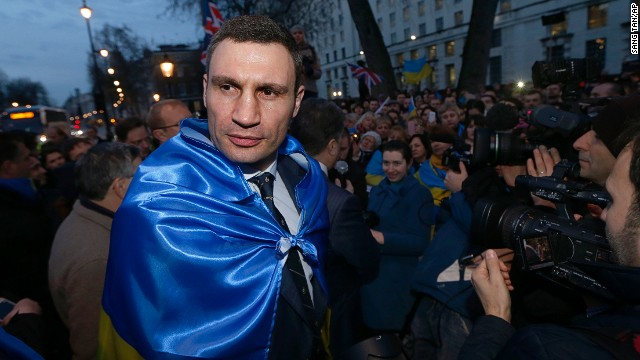 Ukraine's Vitali Klitschko says he won't run for president but hopes to be the mayor of Kiev.