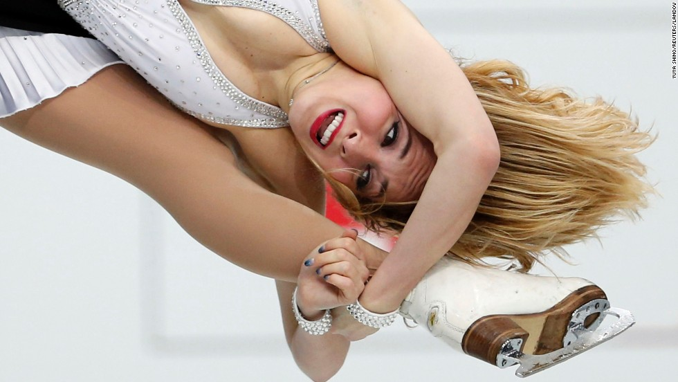 Lithuanian ice dancer Isabella Tobias competes at the World Figure Skating Championships on Friday, March 28, in Saitama, Japan.