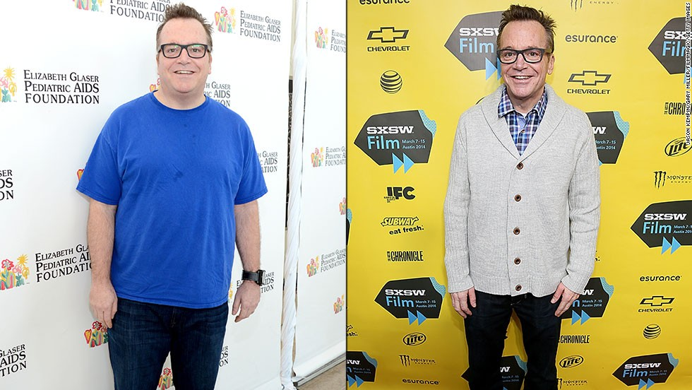 "Tom Arnold has lost about 90 pounds since his first child was born in 2013, and he was looking quite thin at the 2014 South by Southwest festival. He'd actually lost the same amount of weight before but regained it when he didn't maintain healthier habits. After his son was born, he knew he needed to make a lasting change. ""I saw that little baby, and I thought, 'I gotta stay alive for as long as possible,' "" Arnold said. ""That's a lifelong commitment."""