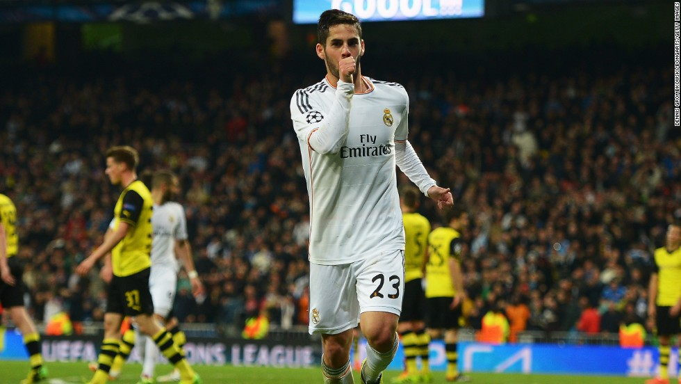 Isco doubled the advantage later in the first half. He only played because Angel Di Maria was ill.
