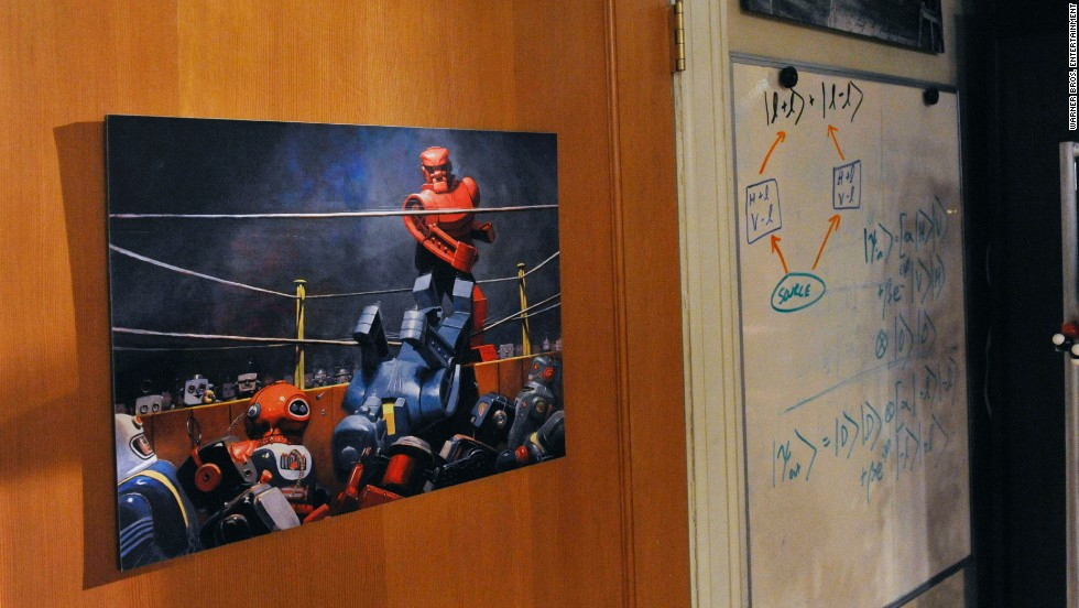 "This ""Rock 'Em Sock 'Em Robots"" poster was created by artist Eric Joyner, a friend  Molaro's."