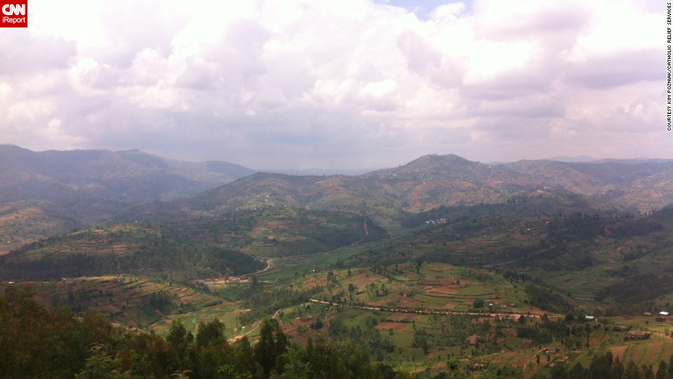 "Rwanda is nicknamed the Land of a Thousands Hills for its countryside dotted with mountains, volcanoes and hillocks. ""There are some <a href=""http://ireport.cnn.com/docs/DOC-1115370"">places that touch you</a> and touch you quickly. Rwanda was one of those places,"" says aid worker LeAnn Hager, who lived there between 2012 and 2014."