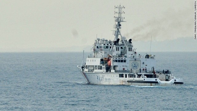 "Caption: (140319) -- ABOARD NANHAIJIU 115, March 19, 2014 (Xinhua) -- The Chinese rescue vessel ""Haixun 01"" sails off from Singapore to Sunda Strait, March 19, 2014. Chinese vessels set on Wednesday for new search areas to hunt the missing Malaysia Airlines jetliner when a multinational search mission for MH370 enters its 12th day. (Xinhua/Zhao Yingquan)(ctt) XINHUA /LANDOV   Photographers/Source: ZHAO YINGQUAN/Xinhua /Landov"