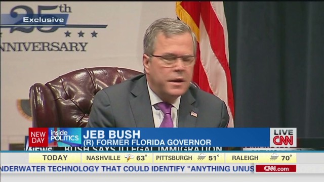 Newday King Jeb Bush immigration comment _00001407.jpg