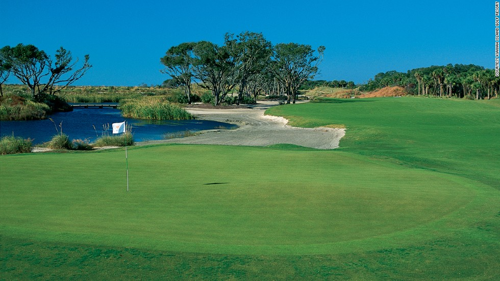 "Possibly the toughest course in the world, the Pete Dye-designed Ocean Course at Kiawah Island was the stage for the 1991 Ryder Cup -- the notorious ""War On The Shore,"" in which the European team lost by the narrowest of margins to the United States."