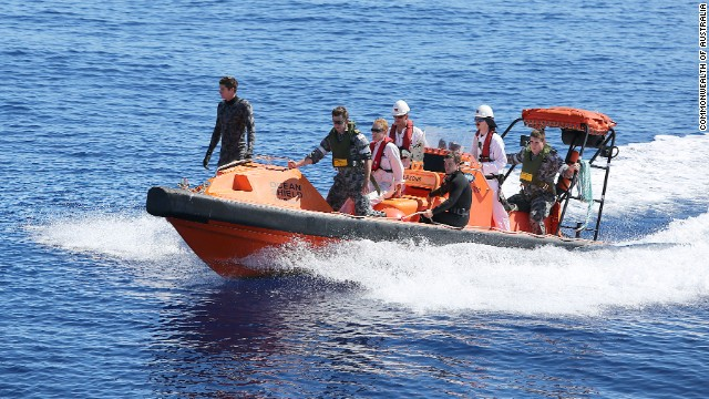 A fast response craft manned by members of ADV Ocean Shield's crew and Navy personnel search the ocean for debris of the missing Malaysia Airlines Flight MH 370. Mid-Caption The Australian Maritime Safety Authority (AMSA) continues to direct the search for Malaysia Airlines Flight MH370 from the Rescue Coordination Centre in Canberra in conjunction with the Australian Transport Safety Bureau (ATSB). Retired Air Chief Marshal Angus Houston AC AFC is leading a Joint Agency Coordination Centre (the JACC) that is based in Perth to coordinate the Australian Government's support for the search for MH370. Joint Task Force Headquarters -- JTF 658, at Fleet Base West is coordinating supporting military forces engaged in the air and sea search., JTF 658 is commanded by Commodore Peter Leavy