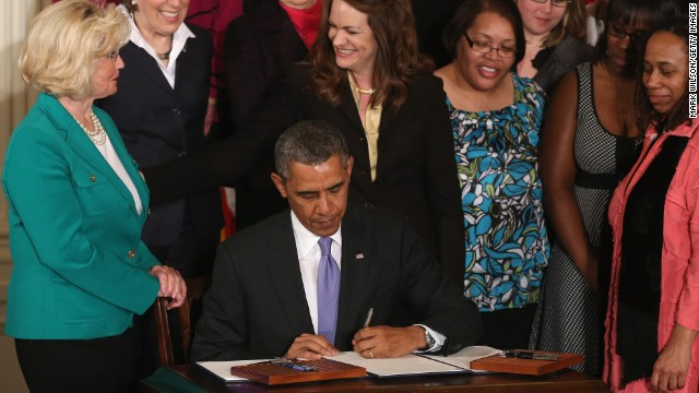 Obama signs actions to ensure equal pay